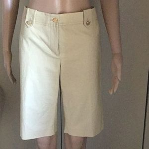 Tory Burch Kinny Bermuda Stretch Shorts size 8.